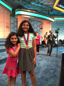 My sister has been cheering me on at spelling bees since she was 4 years old!